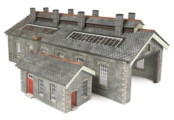 PN937 Double track stone-built engine shed - Settle and Carlisle style - card kit
