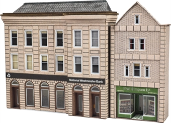 PN971 Low relief bank and shop fronts - card kit