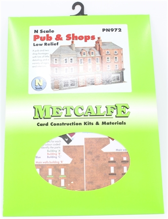 PN972 Low relief pub and shop fronts - card kit