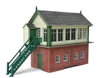 PO233 Signal box with lineside hut & fuel store shed (Card Kit) £7.50