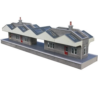 PO234 Pair of island station buildings (Card Kit) £8