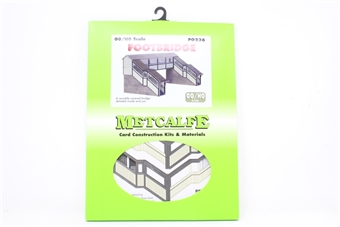 PO236-PO01 Double-track covered station footbridge - card kit - Pre-owned - Like new