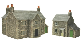 PO250 17th Century Manor farm house and workers cottage - card kit