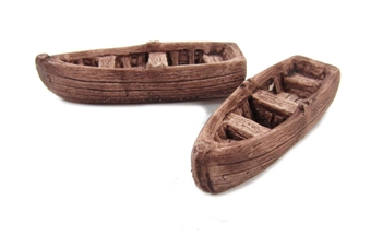QS415 Wooden Rowing Boats x 2