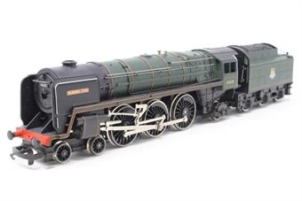 R033MorningStar-D-PO09 Britannia Class 4-6-2 'Morning Star' 70021 in BR green - Pre-owned - Noisy runner, imperfect box