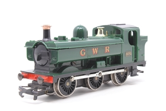 R041Pannier-PO38 Class 57XX 0-6-0PT 8751 in GWR Green - Pre-owned - sold as seen - non-runner - worn decals - replacement box