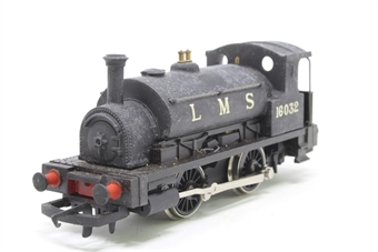 R057-PO12 Class 0F Pug 0-4-0 16032 in LMS Black - Pre-owned - repainted and renumbered