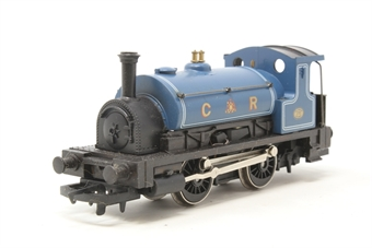 R057-PO14 Class 0F Pug 0-4-0 270 in Caledonian Railways Blue - Pre-owned - imperfect box