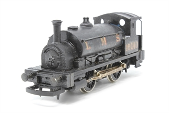 R057-PO15 Class 0F Pug 0-4-0 16010 - Pre-owned - repainted - renumbered - glue marks on body - missing coupling hooks - weathered valve gear - imperfect box