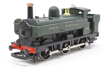 R059-PO14 Class 2721 0-6-0PT 2744 in GWR Green - Pre-owned - Missing coupling hook - Replacement box