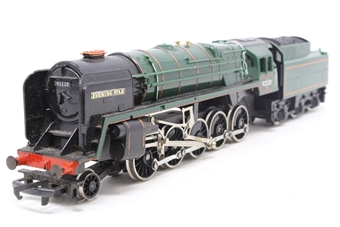 R065-PO27 Class 9F 2-10-0 'Evening Star' 92220 in BR Green - Pre-owned - added new nameplates, modified connection between loco and tender - removed lining on tender and changed crest - replacement box