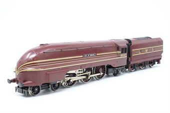 R072-6237-PO05 Class 8P Coronation 4-6-2 6237 'City of Bristol' in LMS Crimson Lake - Pre-owned - wobbly runner- chipped paintwork - marks on body- missing coupling hook- imperfect box