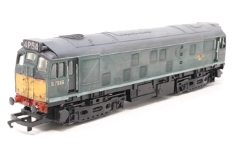 R072-D7596-PO Class 25 D7596 in BR Green - Pre-owned - weathered, damage to buffers, replacement box