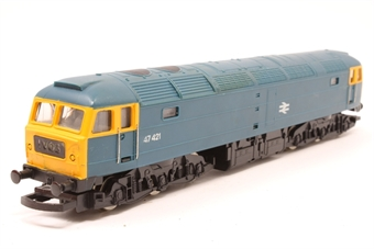 R075-PO18 Class 47 47421 in BR Blue - Pre-owned - sold as seen - inconsistent runner - imperfect box