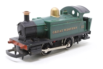 R077-PO25 Class 101 Holden 0-4-0T 101 in GWR Green - Pre-owned - replacement box. missing 3 buffers, jerky runner, only runs forward, missing coupling hooks