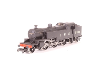 R088-PO01 Class 4P 2-6-4T 2368 in LMS Black - Pre-owned - renumbered- imperfect box