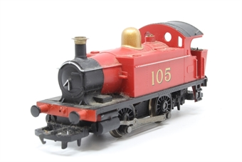 R1015Loco-PO01 Class 101 Holden 0-4-0T 105 in Red - separated from Industrial Freight Set - Pre-owned - replacement box