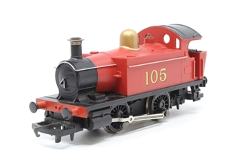 R1015Loco-PO02 Class 101 Holden 0-4-0T 105 in Red - separated from Industrial Freight Set - Pre-owned - non runner - missing coupling hook - replacement box