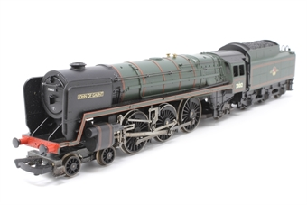R1021loco-PO04 Britannia Class 7MT 70012 'John of Gaunt' - Split from R1021M set - Pre-owned - Body loose from chassis - Glue marks on tender buffer - replacement box