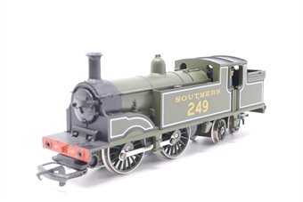 R103-PO11 M7 Class 0-4-4T 249 in Maunsell Olive Green - Pre-owned - missing front buffers - detailed with added crew - replacement box
