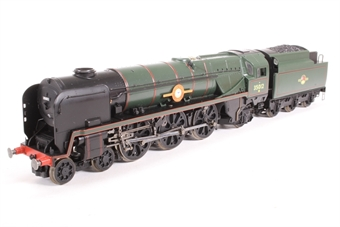 R1038loco-PO01 Class 8P 'Merchant Navy' 4-6-2 35012 'United States Lines' in BR green - split from premier box set - Pre-owned - missing footladder on one side of tender