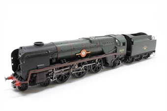 R1038loco-PO06 Class 8P 'Merchant Navy' 4-6-2 35012 'United States Lines' in BR green - split from premier box set - Pre-owned - replacement box