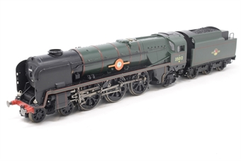 R1038loco-PO08 Class 8P 'Merchant Navy' 4-6-2 35012 'United States Lines' in BR green - split from premier box set - Pre-owned - DCC fitted - non-standard coupling fitted at rear