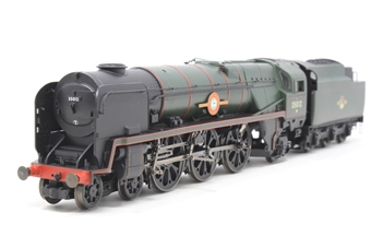 R1038loco-PO15 Class 8P 'Merchant Navy' 4-6-2 35012 'United States Lines' in BR green - split from premier box set - Pre-owned - Missing whistl and one tender footsteps, replacement box