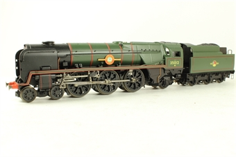 R1038loco Class 8P 'Merchant Navy' 4-6-2 35012 'United States Lines' in BR green - split from premier box set