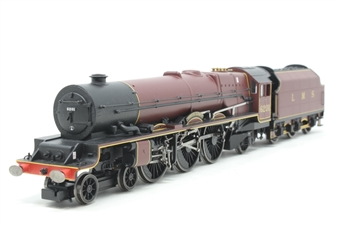 R1045Loco-PO Princess Class 4-6-2 'Princess Elizabeth' 6201 in LMS Maroon - Split from R1045 Set - M&S Special Edition - Pre-owned -Body slightly loose from chassis, damage to valve gear, missing coupling hook, replacement box