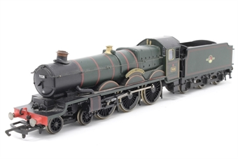 R1048loco-PO03 Castle Class 4-6-0 'Cadbury Castle' 7028 in BR Green - split from Western Pullman Set - Pre-owned - noisy runner, replacement box