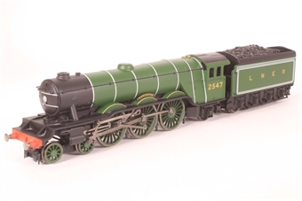 R1135loco-SD Class A3 4-6-2 2547 'Doncaster' in LNER apple green - Split from R1135 set, with certificate - Pre-owned - DCC fitted,Inconsistent runner, replacement box