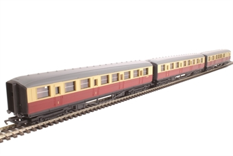 R1172coaches Pack of 3 Gresley coaches in BR crimson & cream - split from R1172 set £39