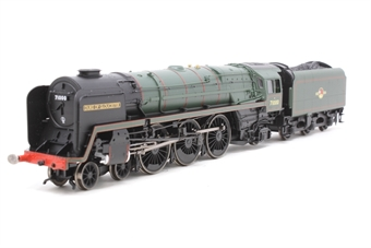 "R1177Loco-PO01 Class 8 4-6-2 71000 ""Duke of Gloucester "" in BR green with late crest - Railroad Range - Split from Gloucester City Pullman Train Set - Pre-owned - missing buffer and coupling, replacement box"