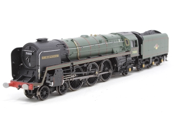 """R1177Loco-PO02 Class 8 4-6-2 71000 """"Duke of Gloucester """" in BR green with late crest - Railroad Range - Split from Gloucester City Pullman Train Set - Pre-owned - DCC Sound-fitted - Replacement box"""