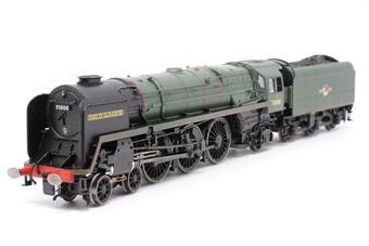 "R1177Loco-PO07 Class 8 4-6-2 71000 ""Duke of Gloucester "" in BR green with late crest - Railroad Range - Split from Gloucester City Pullman Train Set - Pre-owned - detailed with lamps -slight frosting/marks on cab glazing -- replacement box"