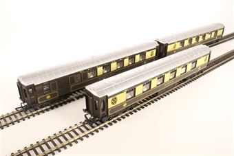R1177coaches Pack of 3 Pullman parlour coaches - Split from R1177 Set