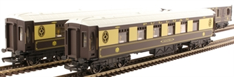 R1184coaches Pack of 3 Pullman parlour coaches - Split from R1184 Set