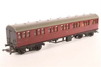 R121suburban-SD02 Suburban Composite 41007 in BR Maroon - Pre-owned - loose parts inside, painted details worn off, replasment box