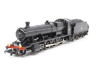 R143-PO11 Class 2800 2-8-0 2857 in BR Black - Pre-owned - detailed with added crew and lamps - tools added to tender load - glue marks on locomotive- imperfect box