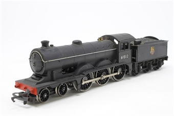 R150-B12-PO03 Class B12 4-6-0 61512 in BR Plain black with early emblem - Pre-owned - renumbered, missing one buffer, chipped paint, only runs in one direction, replacement box