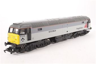 R2013A Class 47 47376 'Freightliner 1995' in Freightliner Grey