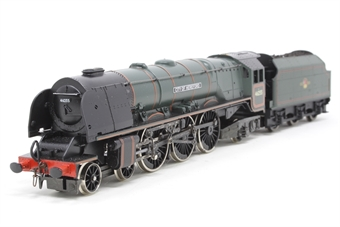 R2015-PO01 Duchess Class 4-6-2 'City of Hereford' 46255 in BR Green - Pre-owned - detailed - crew added - imperfect box