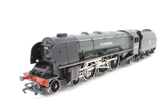 R2015-PO03 Duchess Class 4-6-2 'City of Hereford' 46255 in BR Green - Pre-owned - detailed with added crew -  imperfect box