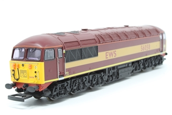 R2075-PO05 Class 56 56058 in EWS Maroon - Pre-owned - missing coupling hook - imperfect box