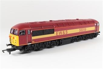 R2075 Class 56 56058 in EWS Maroon