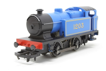 R2131-PO01 Class D Industrial 0-4-0T 1203 in Caledonian Railways Blue - Pre-owned - Like new, Imperfect box £17