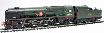 "R2169 Rebuilt Merchant Navy class 4-6-2 35028 ""Clan Line"" in BR green"