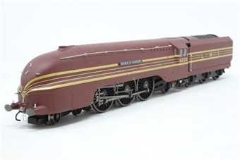 """R2179-PO12 Streamlined Coronation Class 4-6-2 6225 """"Duchess of Gloucester"""" in LMS maroon - Pre-owned -  imperfect box"""