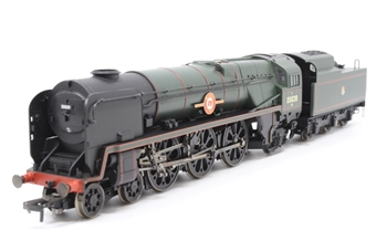 """R2204-PO18 Rebuilt Merchant Navy Class 4-6-2 35020 """"Bibby Line"""" in BR Green - Pre-owned - broken step on tender - imperfect box"""